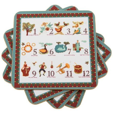 12 Days of Christmas Set of 4 Coasters